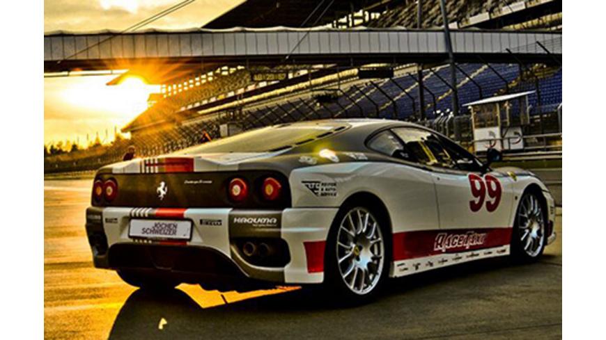 Ferrari F360 Renntaxi am Lausitzring