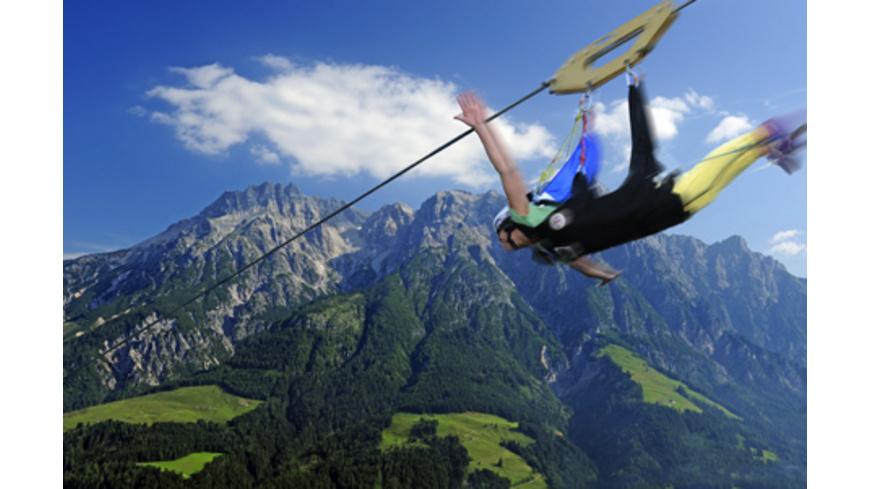 Flying Fox XXL im Salzburger Land mit Video