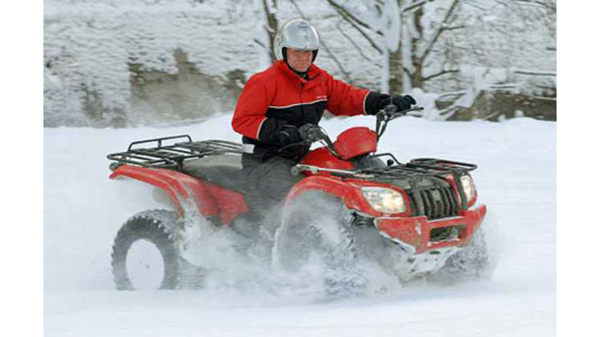 Quad-Offroad-Park bei Zell am See (im Winter)