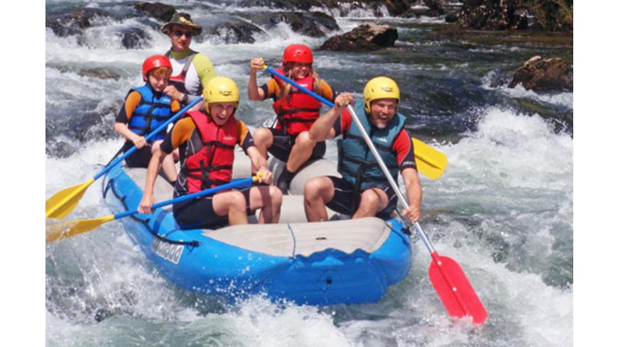 Rafting in Nord-Kroatien