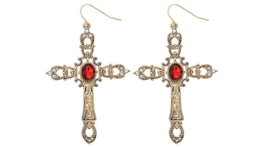 Ohrhänger - Ruby Cross