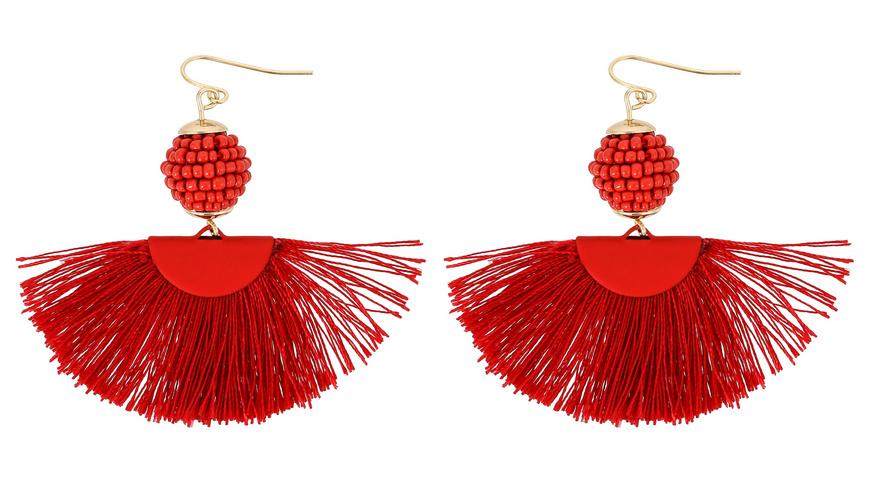 Ohrhänger - Red Pearls