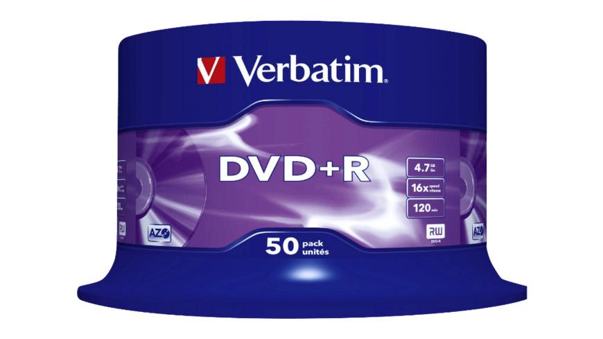 VERBATIM 43550 Datalife Plus DVD+R 4,7 16X, Rohling