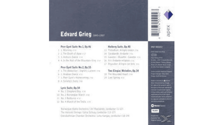 Rasilainen - Peer Gynt-Suiten 1 & 2/Lyrisch - (CD)