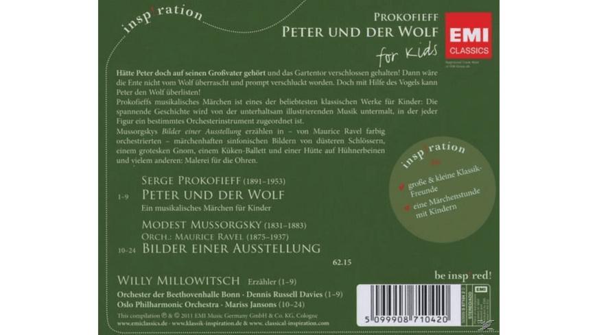PETER UND DER WOLF - FOR KIDS (INSPIRATION) - 1 CD - Klassik (Kinder)