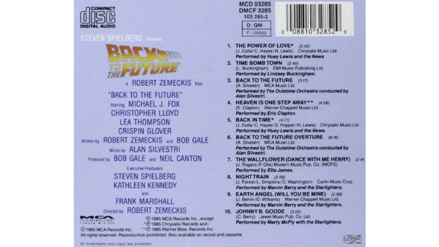VARIOUS - Back To The Future - (CD)