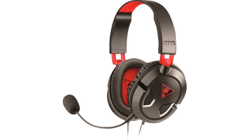 TURTLE BEACH Recon 50 Stereo Headset Schwarz/Rot, Stereo Headset, Schwarz/Rot