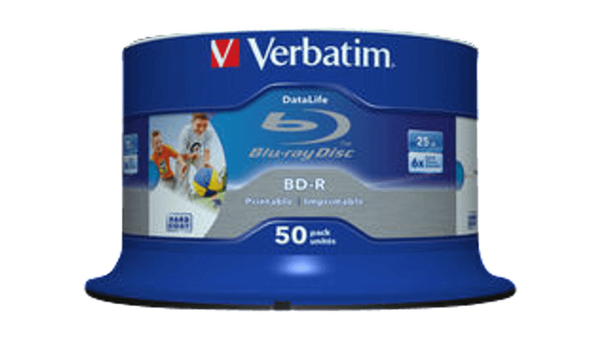 VERBATIM 43812 BD-R Single Layer HTL 25GB 6X, Rohling