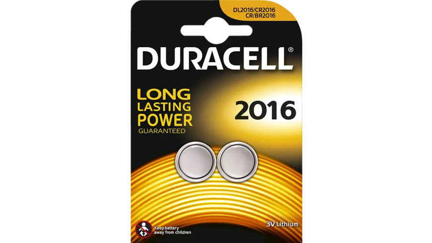 DURACELL Specialty 2016 Knopfzelle, Silber