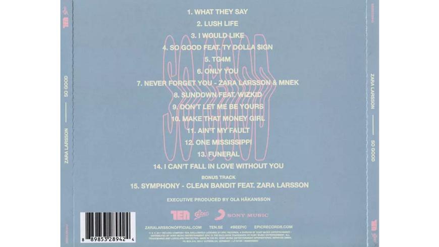 Zara Larsson - So Good - (CD)