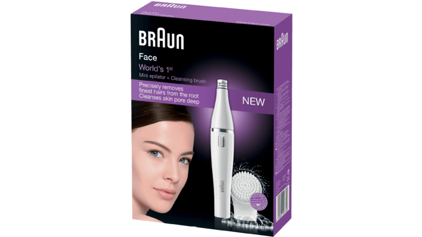 BRAUN Face 810, Gesichtsepilierer, Weiß/Silber
