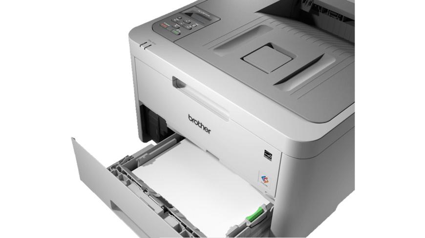 BROTHER HL-L3210CW, Laserdrucker (Farbe), Weiß