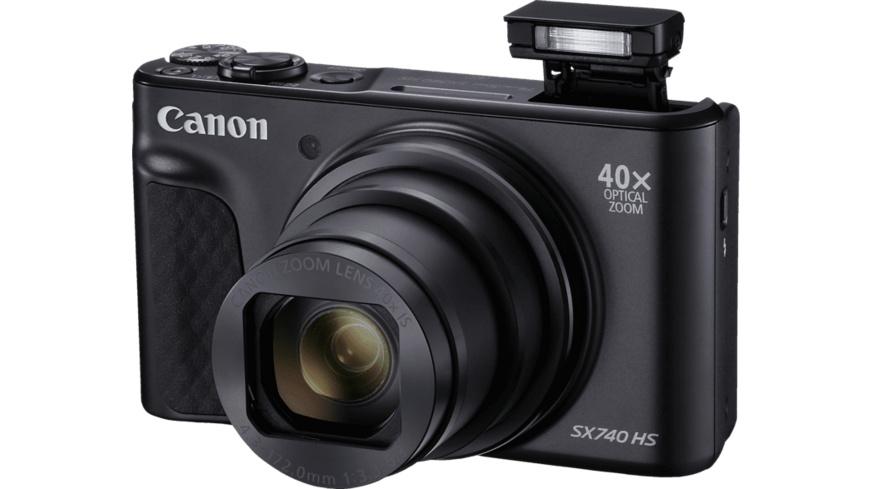 CANON Powershot SX 740 HS Digitalkamera, 20.3 Megapixel, 40x  opt. Zoom, Schwarz