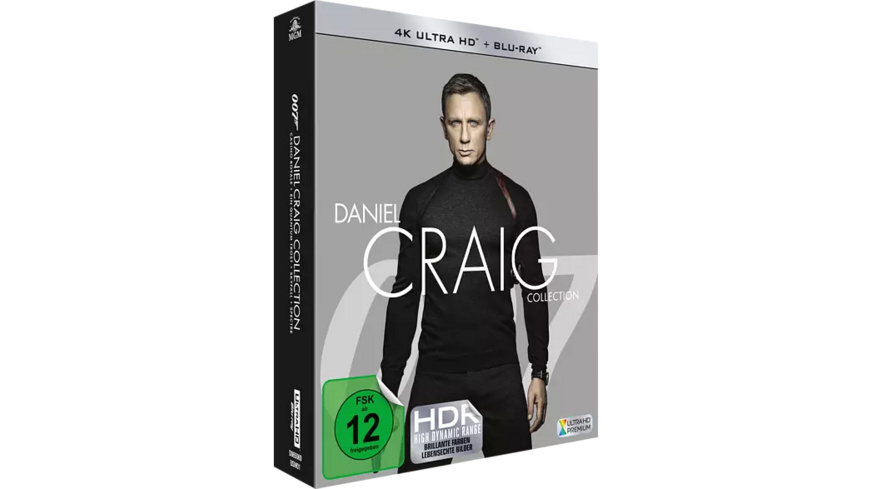 James Bond: Daniel Craig Collection (4-UHD & 4-BD) - (4K Ultra HD Blu-ray + Blu-ray)