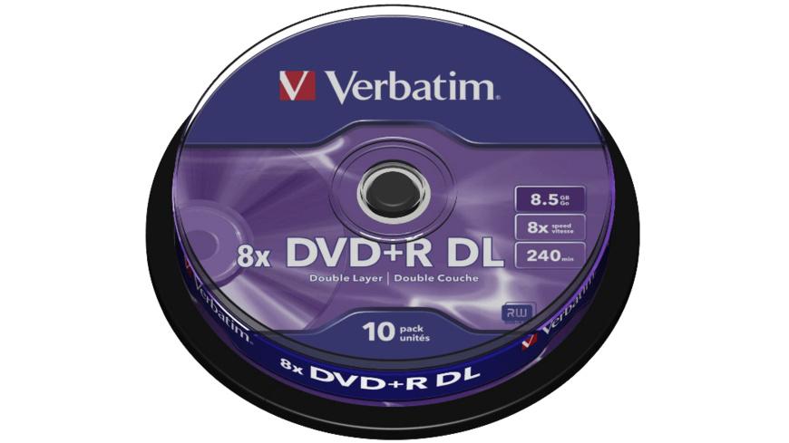 VERBATIM 43666 Scratch Resistant DVD+R DL 8X, Rohling