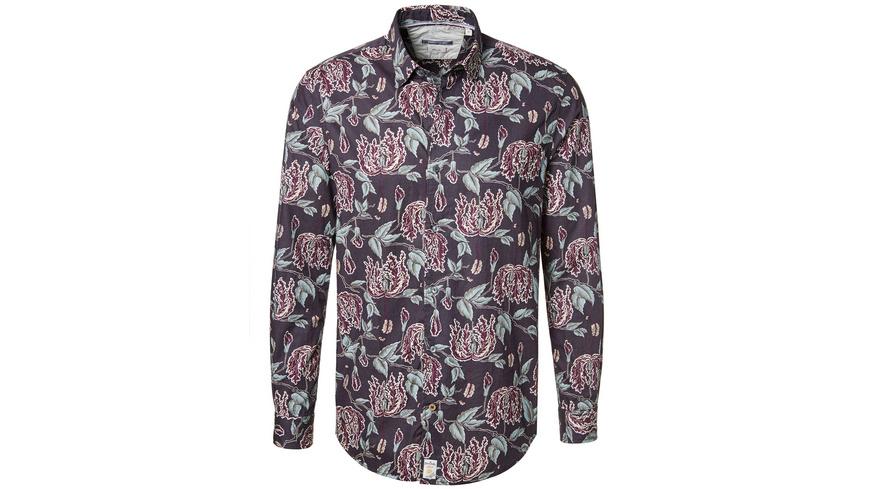 Hemd mit Allover-Print - Slim Fit