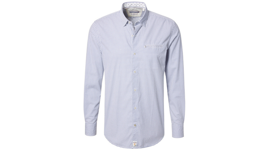 Hemd mit Minimalprint - Modern Fit