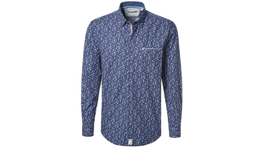 Hemd mit floralem Print - Slim Fit