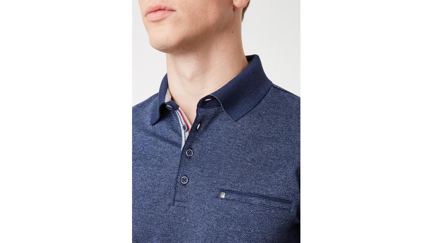 Longsleeve Poloshirt mit Jacquard-Muster - Regular Fit