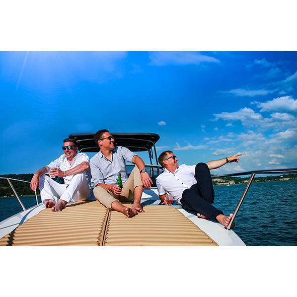 Motorboot fahren auf dem Bodensee