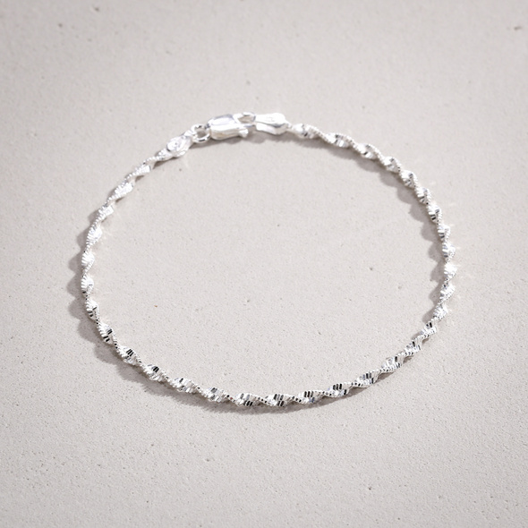 Armband - Silver Spiral