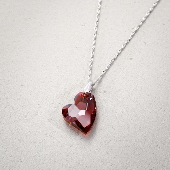 Kette - Red Sparkling Heart