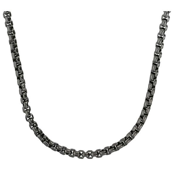 Herren Kette - Black Stainless Steel