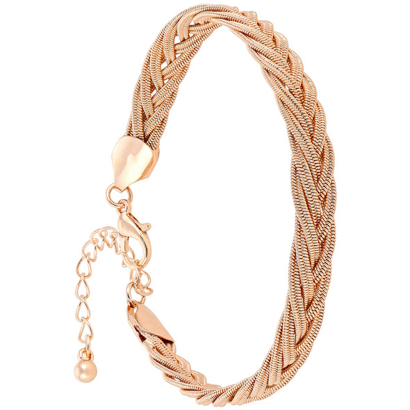 Armband - Braided Rosé