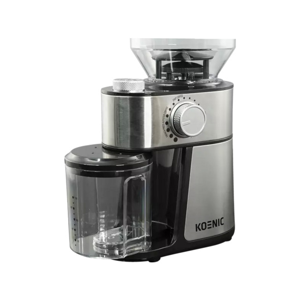 KOENIC KGC 2221 M, Kaffeemühle, Edelstahl/Schwarz