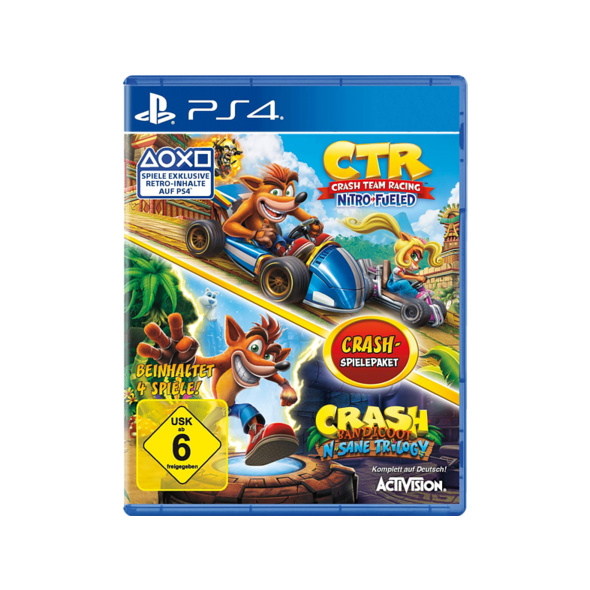 Crash Team Racing Nitro Fueled + Crash Bandicoot N'Sane Trilogy Bundle - PlayStation 4