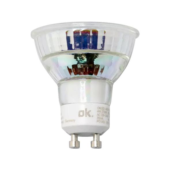 OK. OKLED-AGU10-PAR16-4W LED-Lampe, Weiß