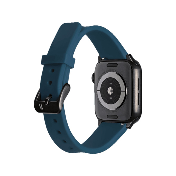 ARTWIZZ 4750-2961 Watchband Sili, Ersatzarmband, Apple, Watch Series 1-3 42 mm, Watch Series 4-5 44 mm, Nordic Blau