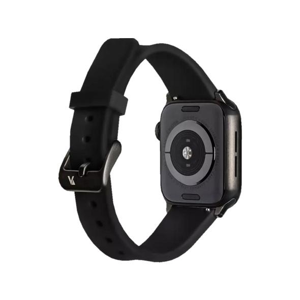 ARTWIZZ 4774-2963 Watchband Sili, Ersatzarmband, Apple, Watch Series 1-3 38 mm, Watch Series 4-5 40 mm, Schwarz