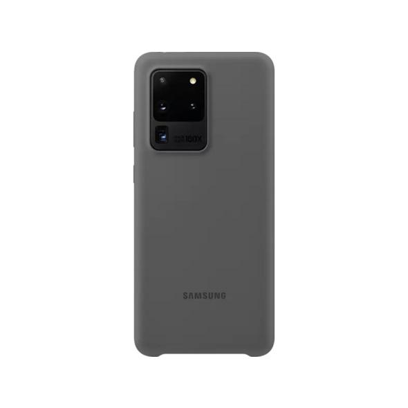 SAMSUNG Silicone Cover Handyhülle, Samsung Galaxy S20 Ultra, Gray