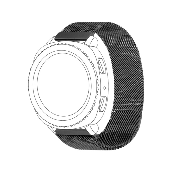 TOPP Mesh, Ersatz-/Wechselarmband, Samsung, Garmin, Gear Sport, Galaxy Watch 42 mm, Galaxy Watch Active, vivomove, vivoactive 3, Grau