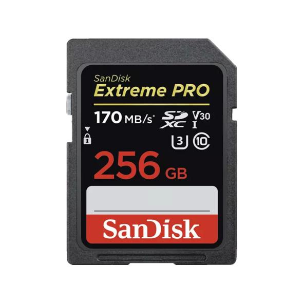 SANDISK Extreme PRO® SDXC Speicherkarte, 256 GB, 170 MB/s, UHS Class 3, Video Speed Class 30 (V30)