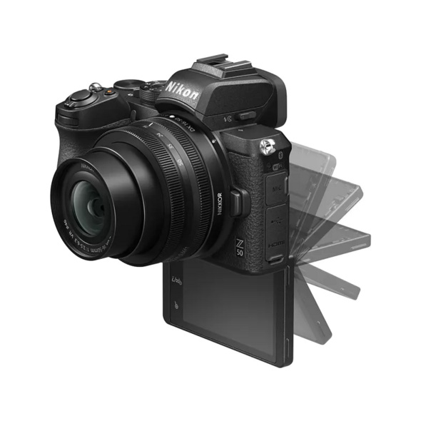 NIKON Z 50 Kit Systemkamera 20.9 Megapixel mit Objektiv 16-50 mm , 8 cm Display   Touchscreen, WLAN