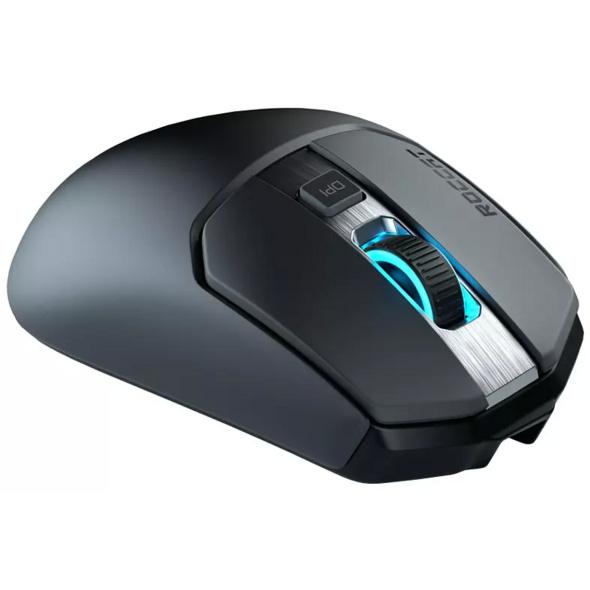 ROCCAT Kain 200 AIMO Gaming Maus, kabellos/kabelgebunden, Schwarz