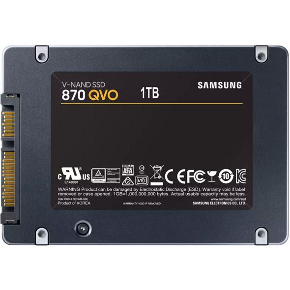 SAMSUNG 870 QVO, 1 TB SSD, 2.5 Zoll, intern