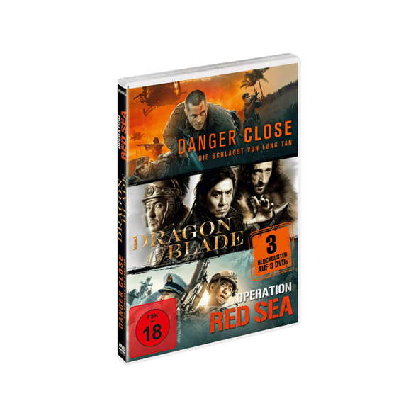 Kriegsfilm-Box: Danger Close, Dragon Blade & Operation Red Sea - (DVD)