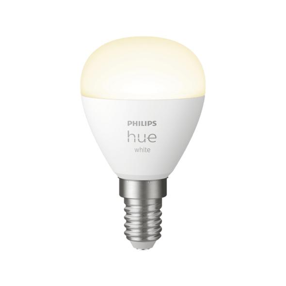 PHILIPS White E14 Luster Tropfen Einzelpack Lampe, Weiß