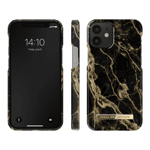 IDEAL OF SWEDEN Fashion Case Backcover, Apple iPhone 12 Mini, Golden Smoke Marble