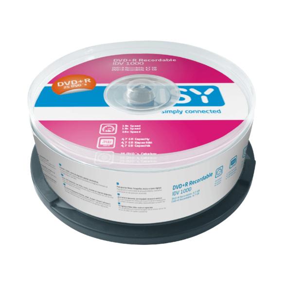 ISY IDV-1000 DVD+R 25er Spindel, DVD+R