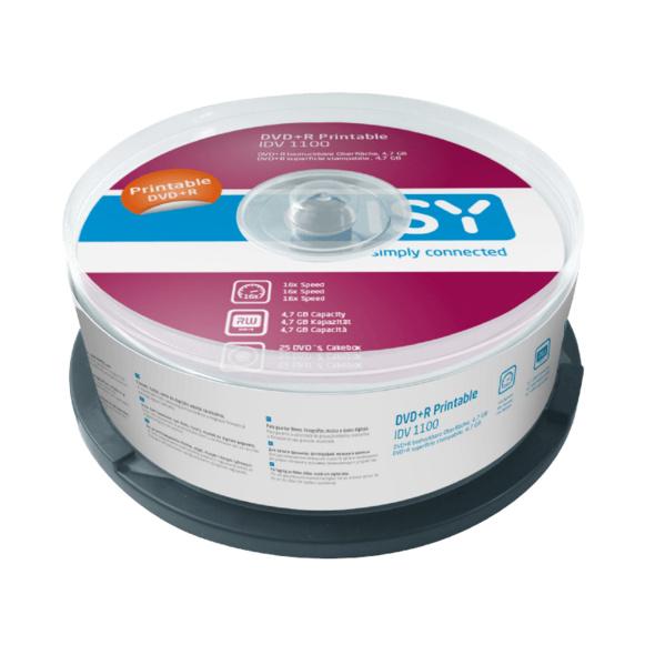 ISY IDV-1100 DVD+R 25er Spindel Printable, DVD+R