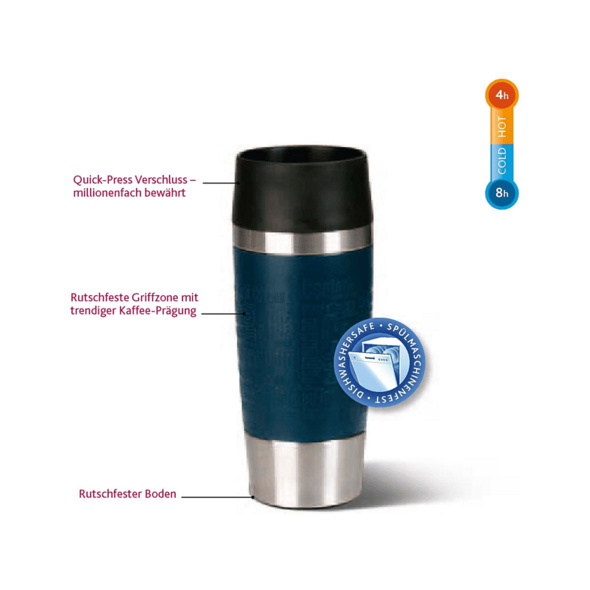 EMSA 513548 Travel Mug Thermobecher, Grün