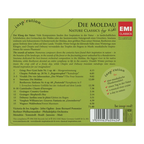 VARIOUS - Die Moldau: Nature Class For Kids - (CD)
