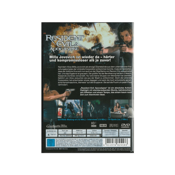 RESIDENT EVIL - APOCALYPSE (SINGLE EDITION) - (DVD)
