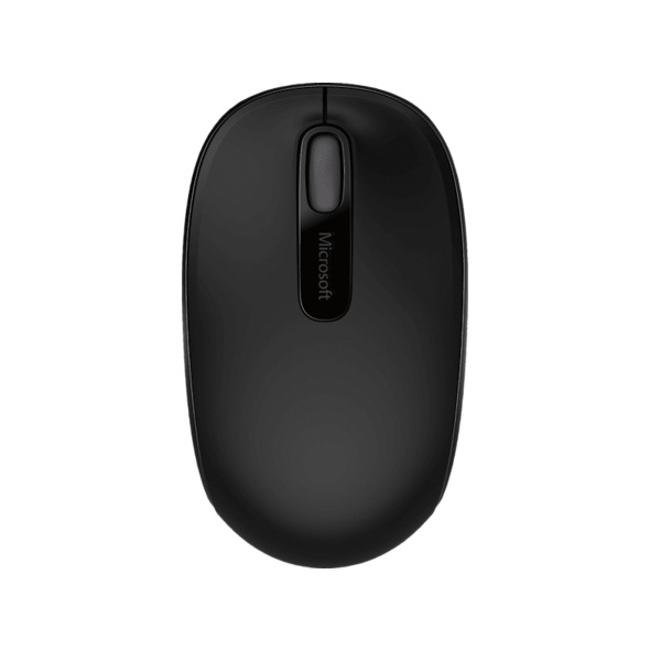 MICROSOFT Wireless Mobile Mouse 1850 Maus, kabellos, Schwarz