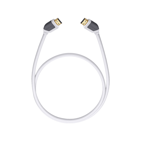 OEHLBACH High-Speed-HDMI®-Kabel mit Ethernet Shape Magic 510 5,1m, HDMI Kabel, 5100 mm, Weiß
