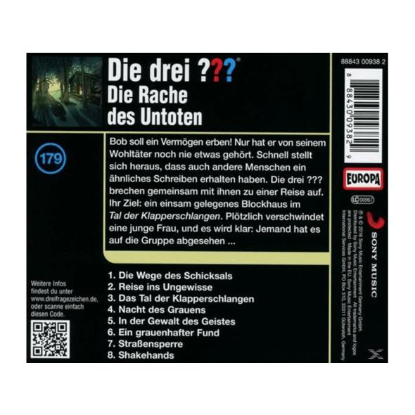 Die Drei ??? 179: Die Rache des Untoten - 1 CD - Kinder/Jugend